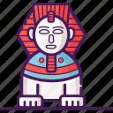 egypt, giza, landmark, sphinx