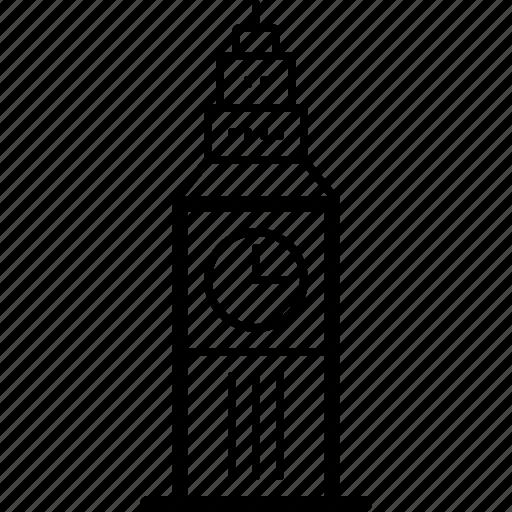 ben, big, england, landmark, london, uk icon