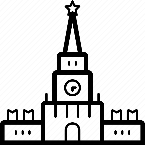 kremlin, landmark, monuments, palace icon