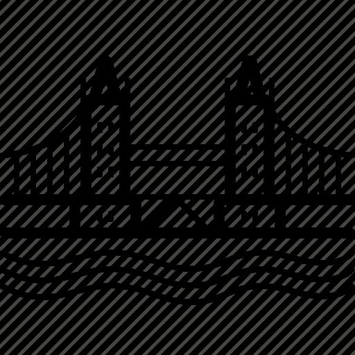 bridge, landmark, london, tower icon