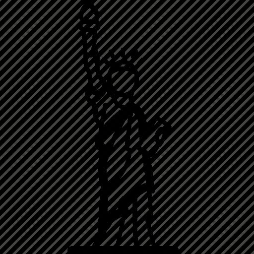 America, landmark, liberty, of, statue, usa icon - Download on Iconfinder