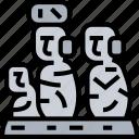 ahu, tongariki, statue, moai, chile