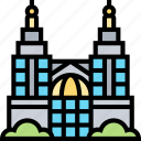 petronas, towers, skyscrapers, downtown, malaysia