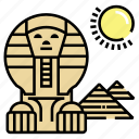 egypt, landmark, pyramid, sphinx icon