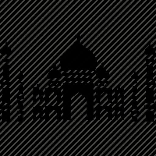 dome, india, landmark, palace, taj mahal icon