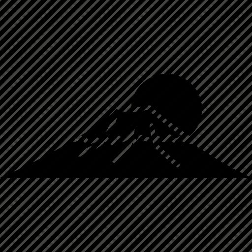 fuji, japan, landmark, mount, mountain, sun, tokyo icon
