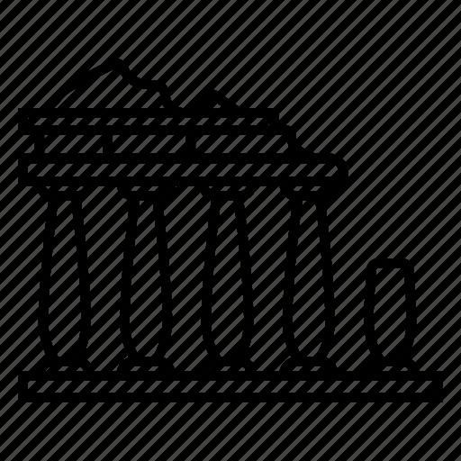 Acropolis of athens, architecture, greek, landmark, monument, parthenon, ruin icon - Download on Iconfinder
