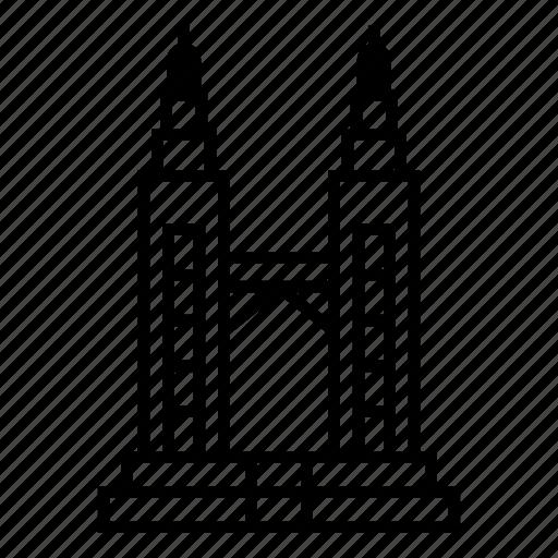 Architecture, kuala lumpur, landmark, landscape, petronas twin towers, skyscraper, travel icon - Download on Iconfinder