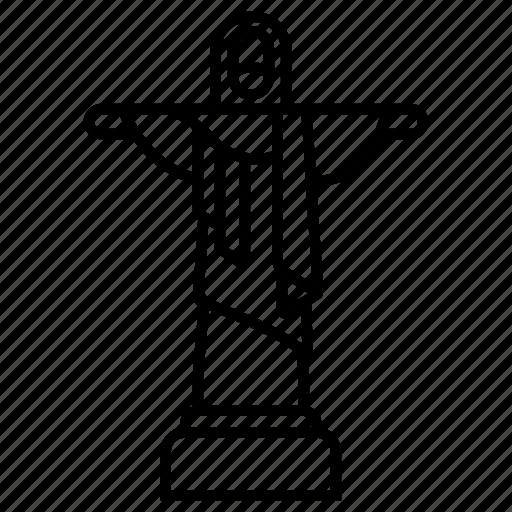 brazil, christ the redeemer, famous, landmark, rio, statue, tourism icon