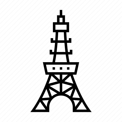 Building, cityscape, landmark, observation, skyline, tokyo tower, travel icon - Download on Iconfinder