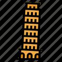 europe, italy, landmark, pisa, tower icon