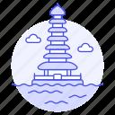 bali, bratan, danu, indonesia, landmarks, national, pagoda, pura, symbol, temple, ulun
