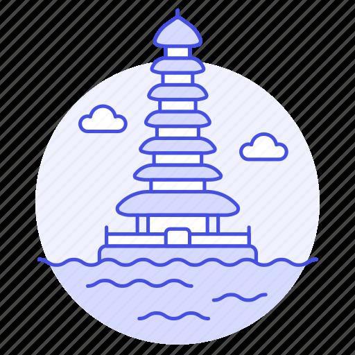 Bali, bratan, danu, indonesia, landmarks, national, pagoda icon - Download on Iconfinder