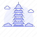 1, building, china, chinese, landmarks, national, pagoda, structure, symbol icon
