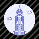 building, chrysler, city, landmarks, manhattan, national, new, skyscraper, symbol, usa, york icon