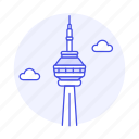 architecture, canada, cn, landmarks, national, ontario, symbol, toronto, tower icon
