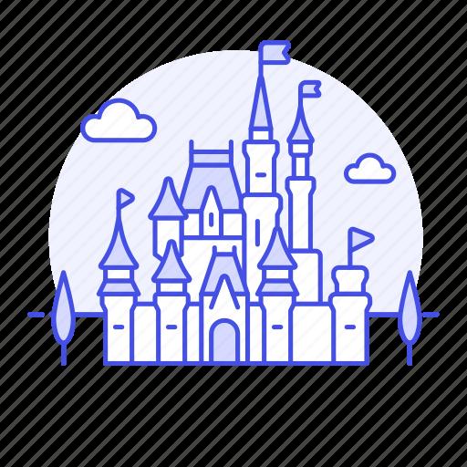 beauty, california, castle, disneyland, landmarks, national, sleeping, symbol, usa icon