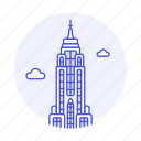 city, empire, landmarks, manhattan, national, new, skyscraper, state, symbol, york