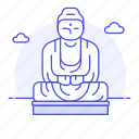 architecture, buddha, great, landmarks, national, statue, structure, symbol icon