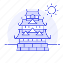 architecture, castle, construction, fortress, japan, japanese, landmarks, national, symbol icon