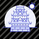 architecture, castle, construction, fortress, japan, japanese, landmarks, national, symbol icon