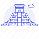 architecture, landmarks, mesoamerican, national, pyramid, symbol icon