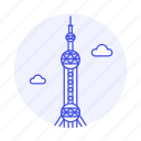 architecture, china, landmarks, national, oriental, pearl, shanghai, symbol, tower icon