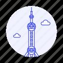 architecture, china, landmarks, national, oriental, pearl, shanghai, symbol, tower icon