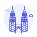 landmarks, malaysia, national, petronas, skyscraper, symbol, towers, twin icon