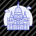 architecture, basilica, coeur, france, landmarks, monument, national, paris, sacre, symbol icon