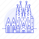 architecture, barcelona, basilica, familia, landmarks, national, sagrada, spain, symbol icon
