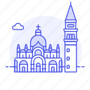 architecture, basilica, campanile, italy, landmarks, mark, national, saint, venice icon