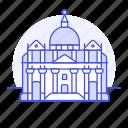 architecture, basilica, landmarks, monument, national, peter, rome, saint, vatican icon