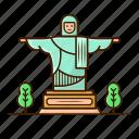 architecture, brasil, christ, landmark, religion, rio de janeiro, statue icon