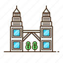 architecture, asia, city, malaysia, petronas, travel, urban
