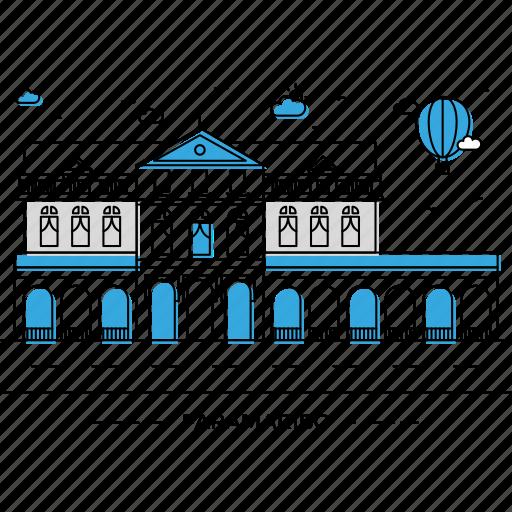 architecture, building, capital, landmark, monument, paramaribo, state icon
