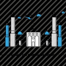 capital, landmark, monument, sanaa, state, yemen icon