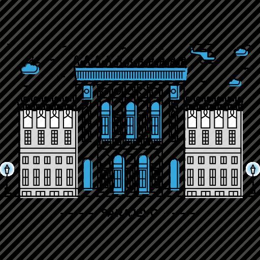 architecture, building, capital, landmark, monument, sarajevo, state icon