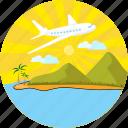 air, travel, airplane, holiday, plane, sun, vacation