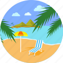 beach, holiday, seaside, summer, travel, umbrella, vacation icon