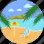 beach, holiday, seaside, summer, travel, umbrella, vacation icon