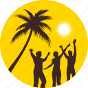 beach, palm tree, party, summer, sun, sunny, vacation icon