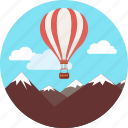 hot, air, sky, balloon, jet propulsion balloon, clouds, extreme icon