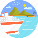 boat, cruise ship, holiday, sea, ship, travel, vacation icon