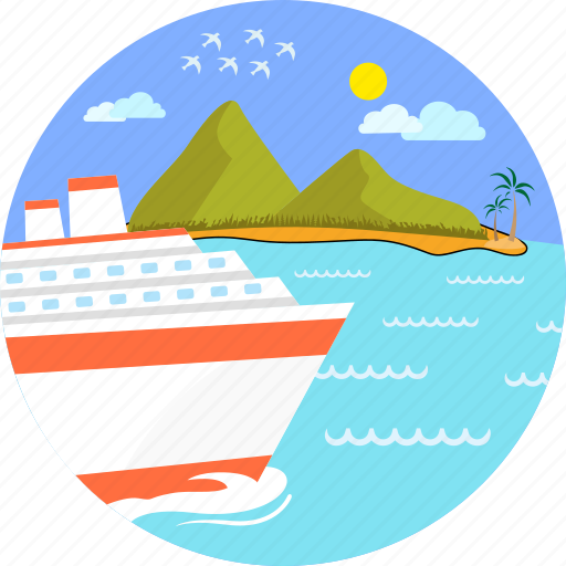 boat, cruise ship, holiday, sea, ship, travel, vacation icon