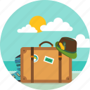 packing, travel, bag, suitcase, holiday, briefcase, vacation icon