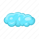 blue, cartoon, cloud, cloudscape, sky, weather, white icon