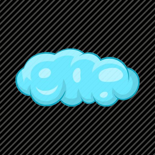 blue, cartoon, cloud, cloudscape, sky, weather, white icon