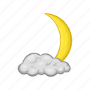 cartoon, cloud, crescent, decoration, month, moon, sky icon