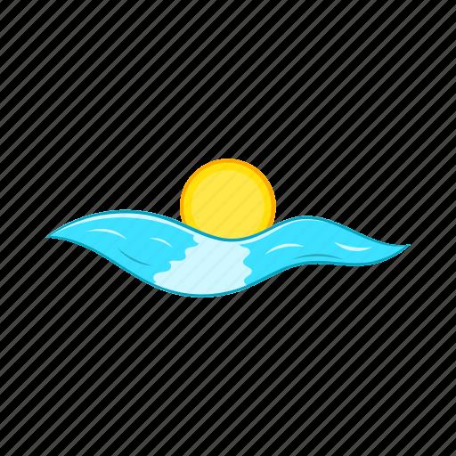 cartoon, nature, ocean, sea, summer, sun, water icon
